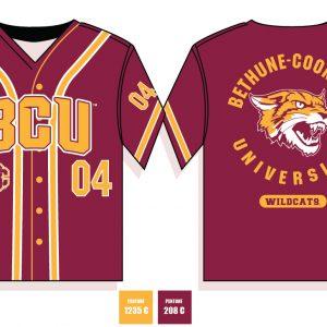 Bethune Cookman University Baseball Jersey – Maroon