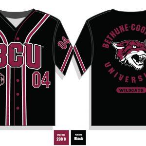 Bethune Cookman University Baseball Jersey – Black