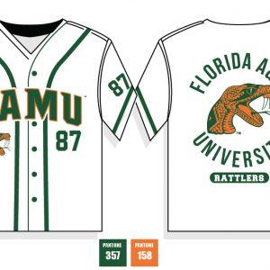 Florida A&M University Baseball Jersey – White