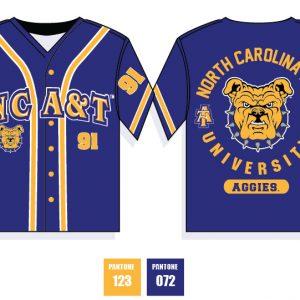 North Carolina A&T University Baseball Jersey – Blue