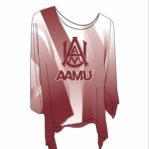 AAMU Faded Blouse